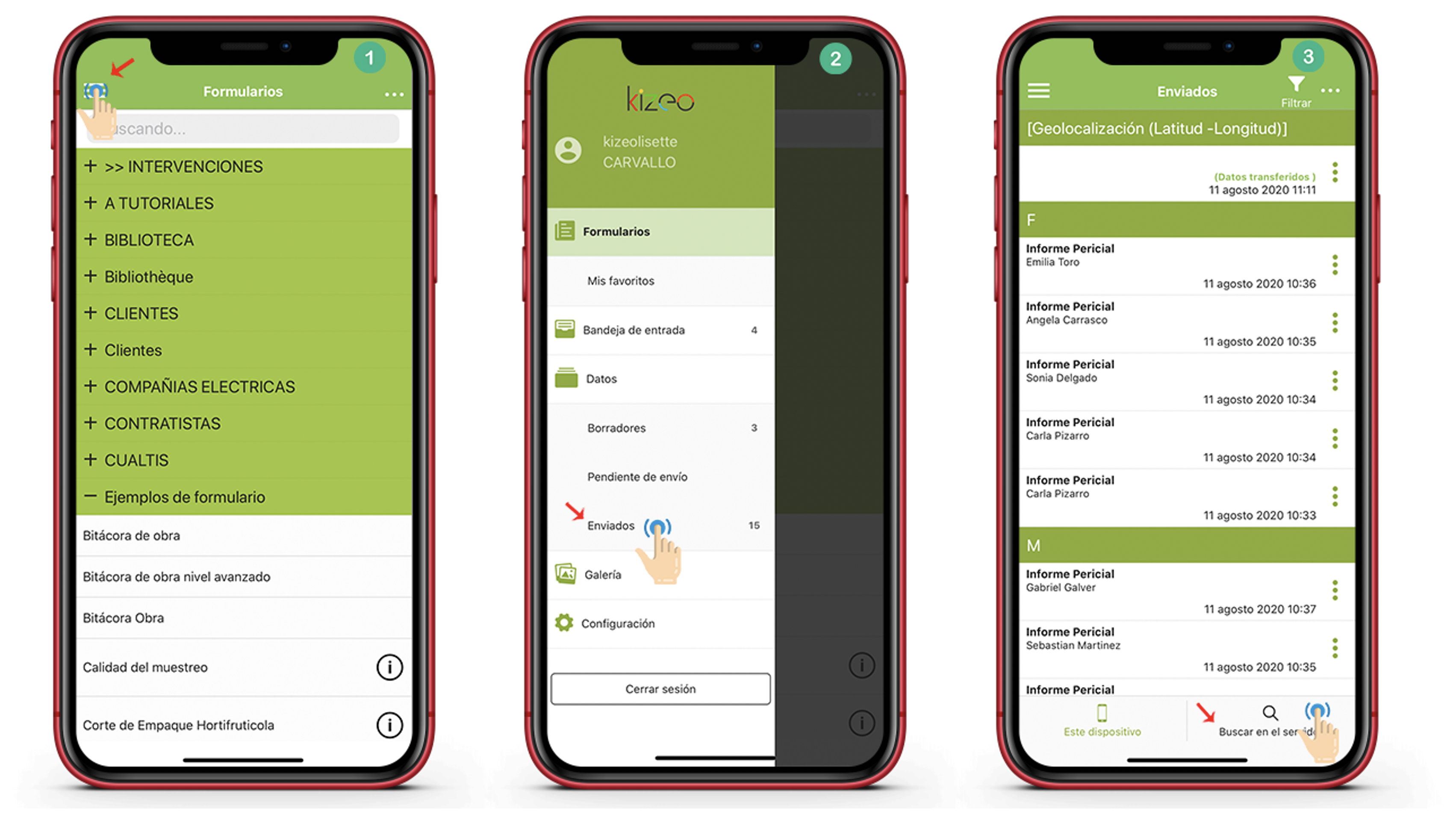 Busca tus datos desde tu dispositivo móvil