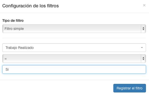 Decida si se enviará una información o no con respecto a los filtros.