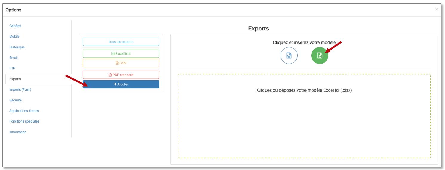 Rendez-vous dans les options de votre formulaire, onglet Export.