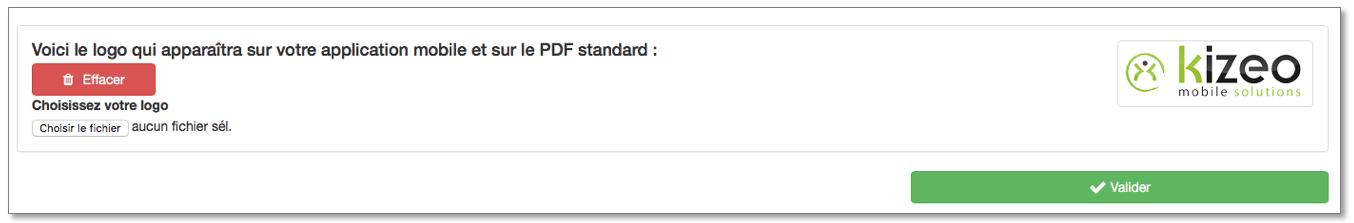 Votre logo apparaitra sur le PDF Standard.