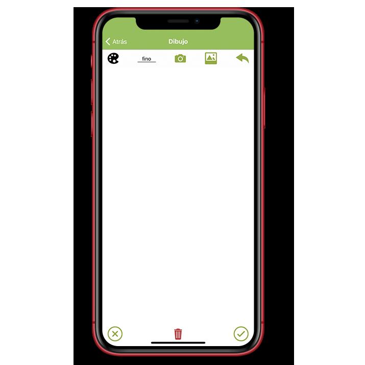 Opciones del elemento dibujo en la aplicación Kizeo Forms.