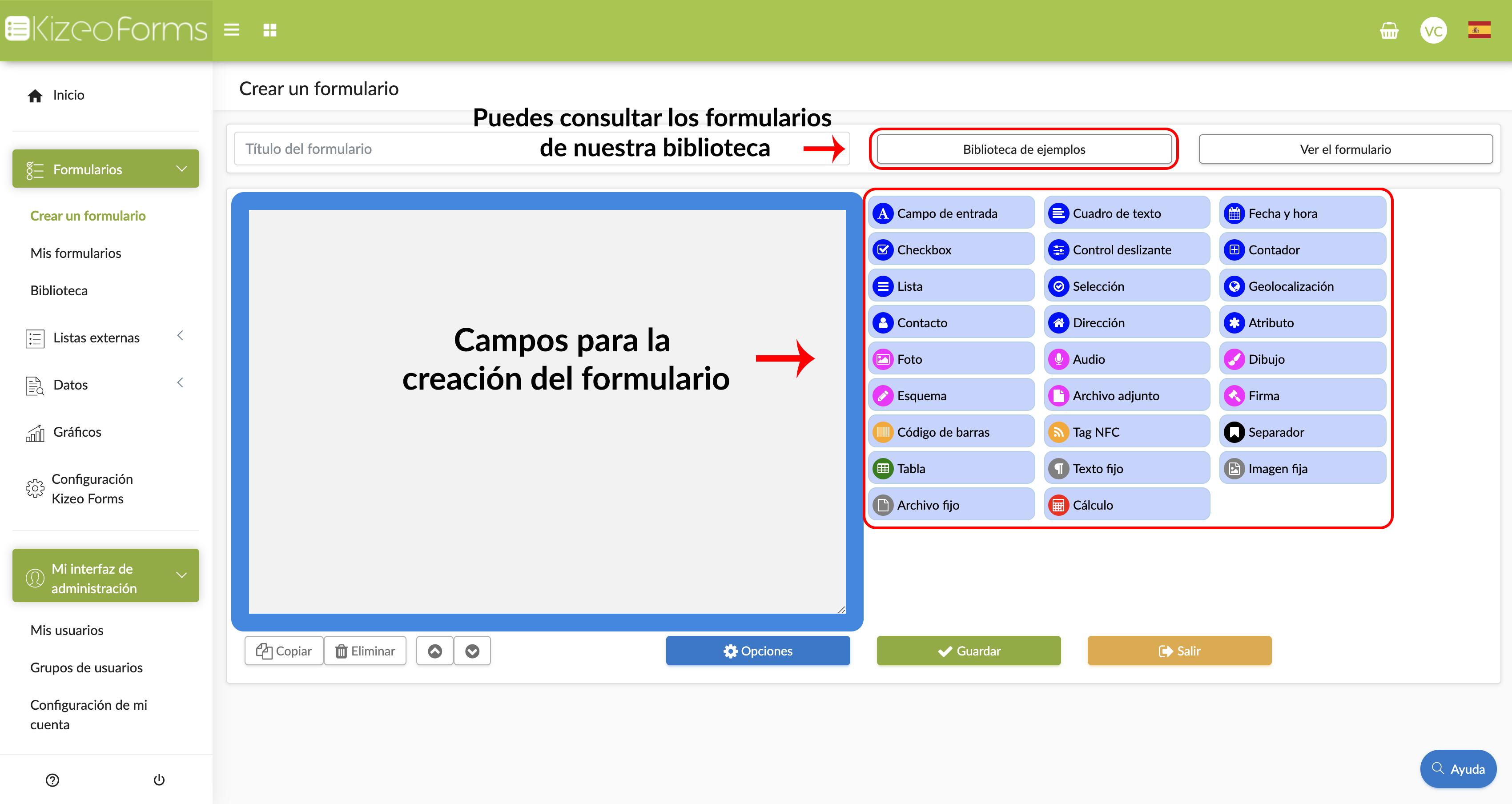 Crear tu primer formulario digital