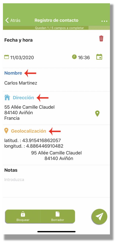 Ejemplo de formulario con los campos de entradas personalizados con colores.