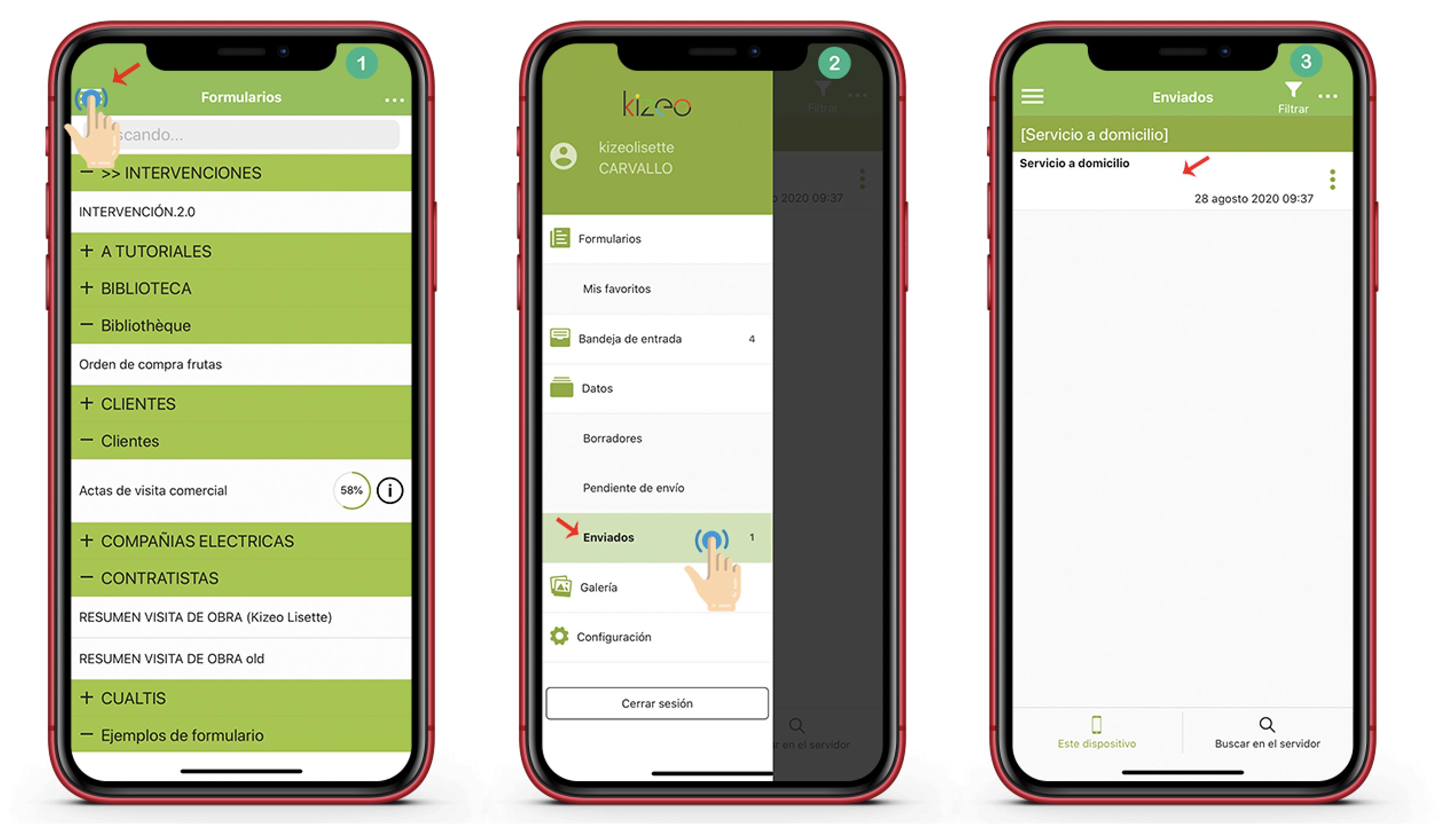 Clic en el botón Menú de la aplicación.