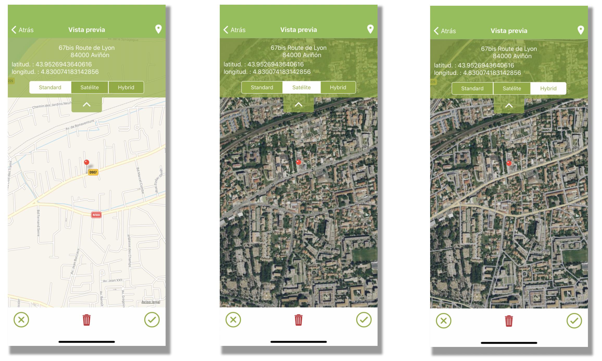 Vistas de la geolocalización desde tu móvil o tablet