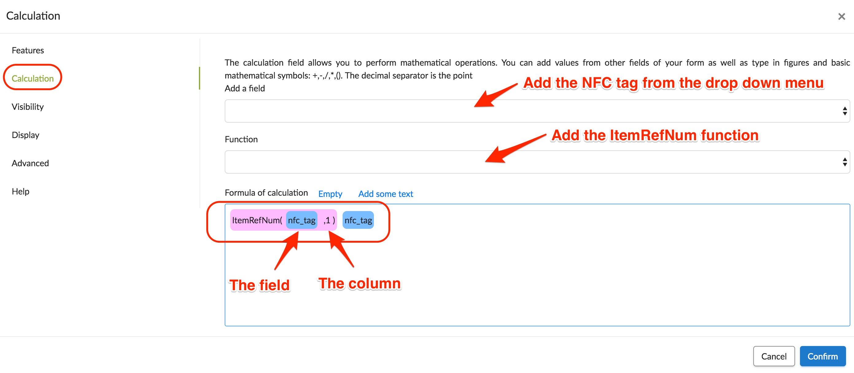 NFC Tag calculation