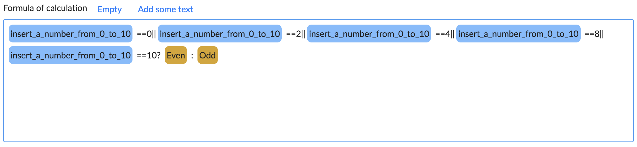 Odd or even calculation