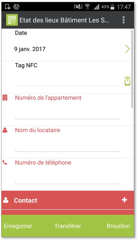 cannez le Tag NFC avec votre appareil mobile pour lire l'information