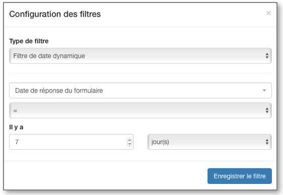Le filtre de date dynamique