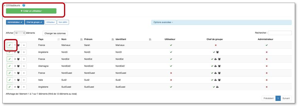 Pour ajouter un utilisateur, rendez-vous dans l'onglet Configuration, Utilisateur.