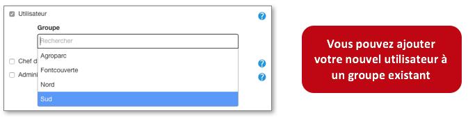 Sélectionnez le statut de votre utilisateur.