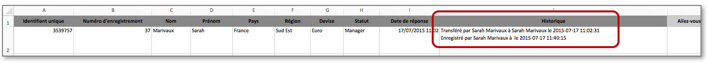 Afficher l'historique de chaque donnée dans votre fichier Excel
