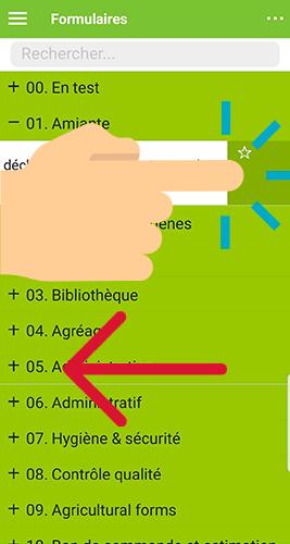 Ajouter un formulaire en favoris