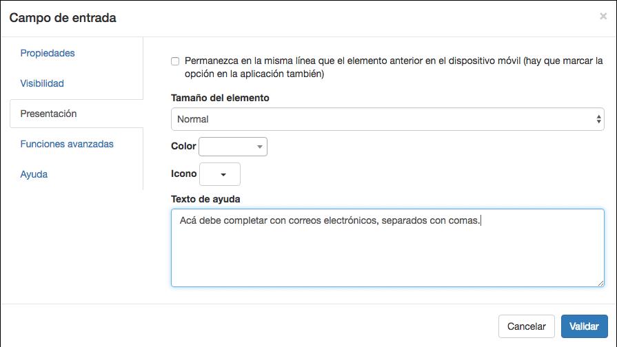 Completar el texto de ayuda par este campo de entrada.