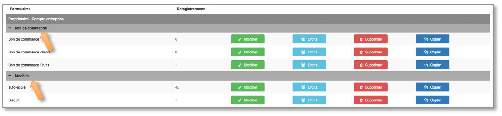 Les rubriques vous permettent de classer vos formulaires Kizeo Forms.