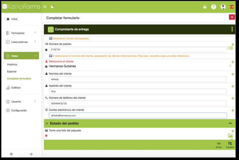 Completar un formulario en plataforma
