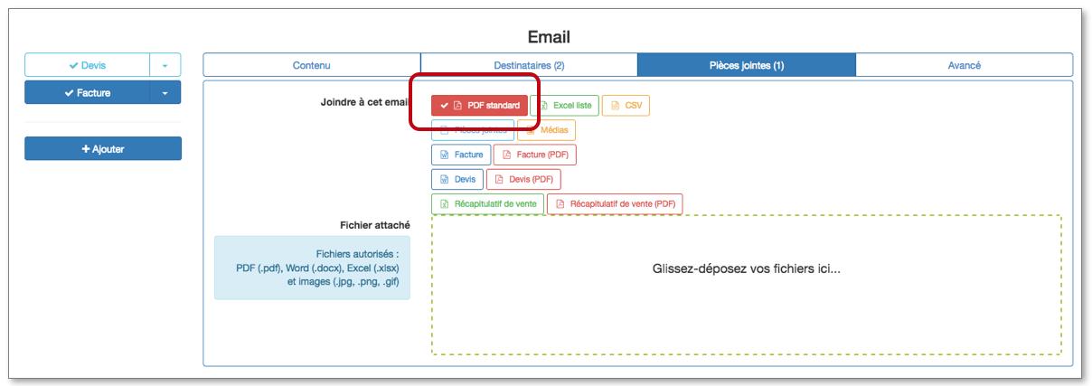 Configurez votre formulaire pour recevoir votre PDF Standard par email.