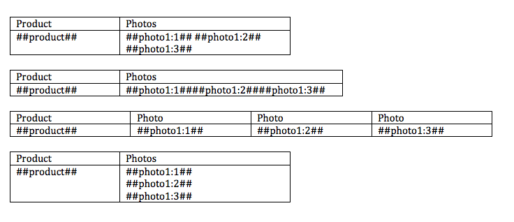 You can include multiple photos or drawings in Kizeo Forms tables.