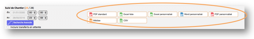 Exportez vos données sous différents formats.