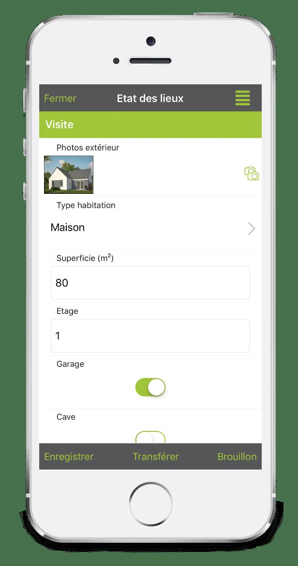 Formulaire d'Etat des lieux sur mobile avec Kizeo Forms.