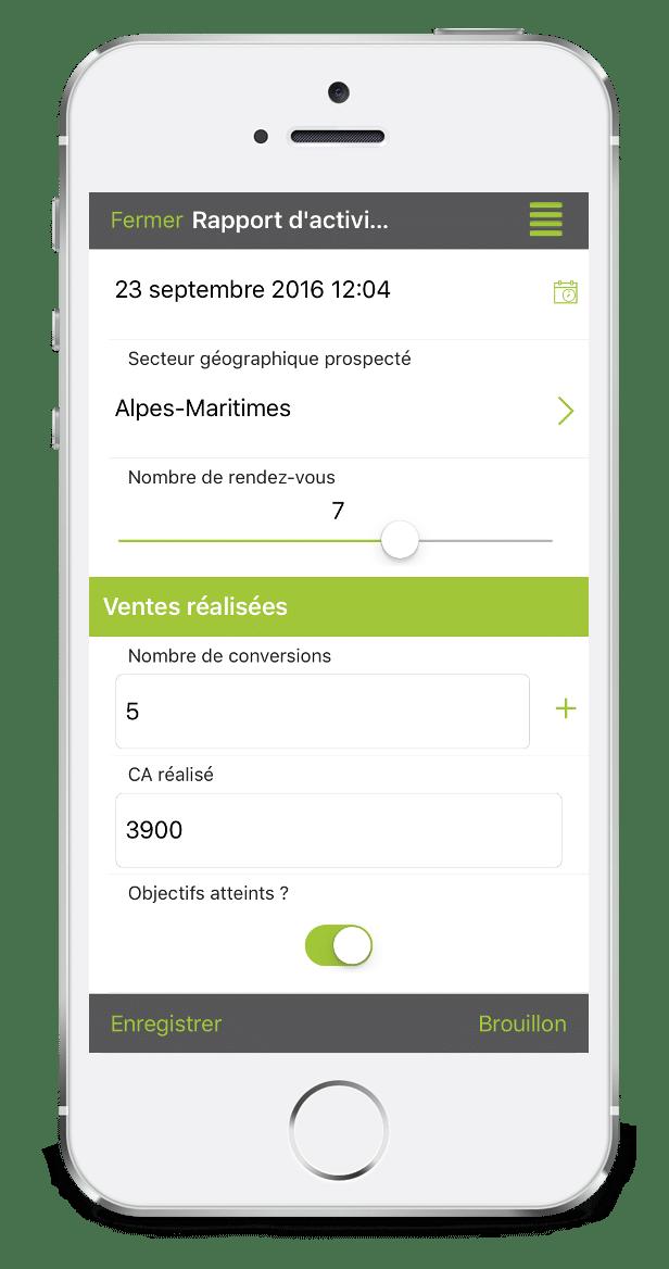 Formulaire Rapport d'Activité Journalier sur mobile avec Kizeo Forms.