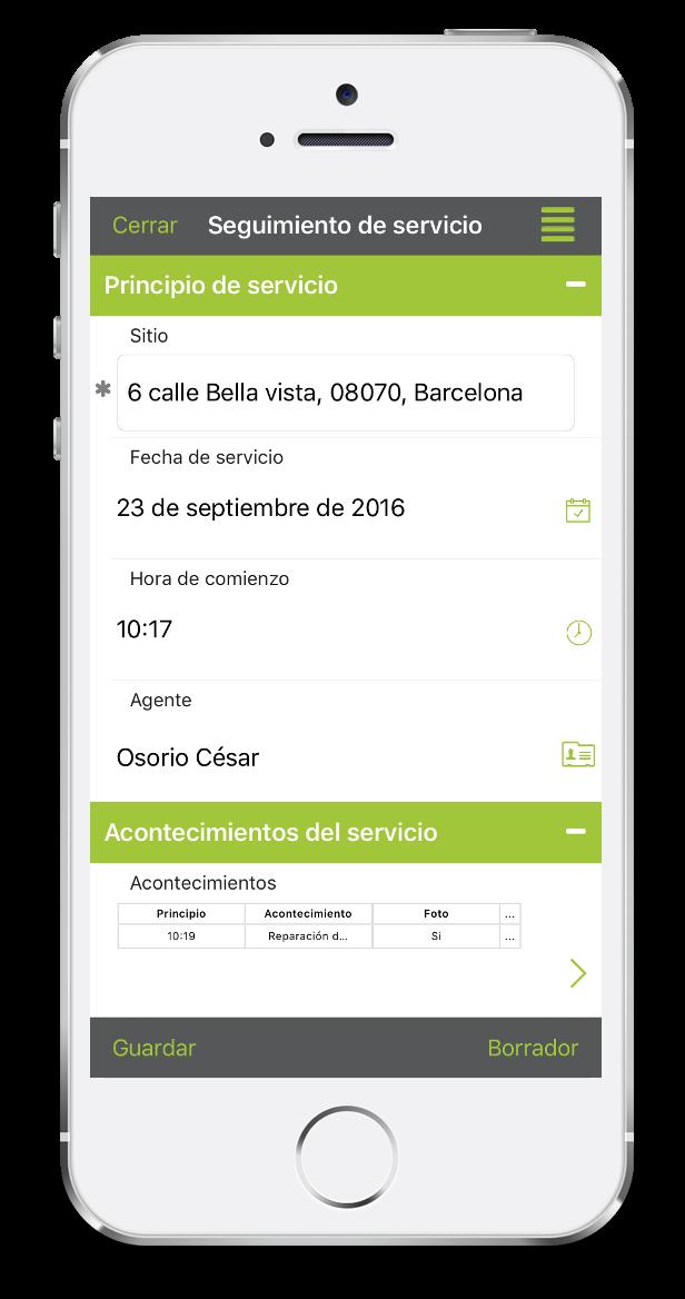 Formulario de seguimiento de servicio con el móvil con Kizeo Forms