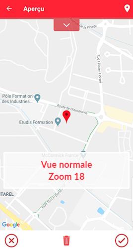 Champ géolocalisation - vue normale