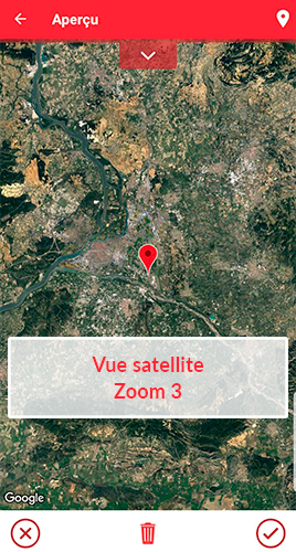 Champ géolocalisation - vue satellite