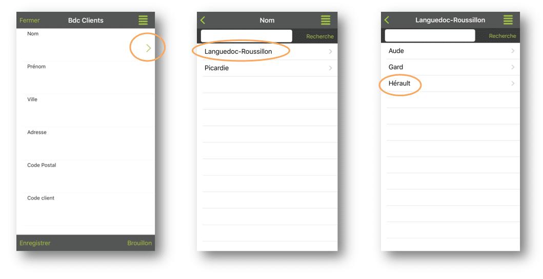 Aperçu de votre liste hiérarchique-référentielle sur le mobile ou tablette.