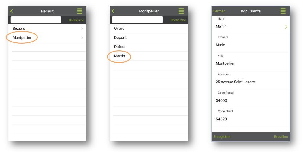 Toutes les informations de votre liste hiérarchique-référentielle se remplissent automatiquement.