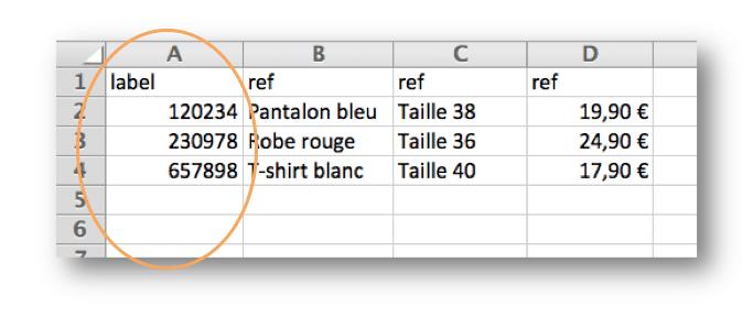 Création de la liste référentielle associée à un Tag NFC.