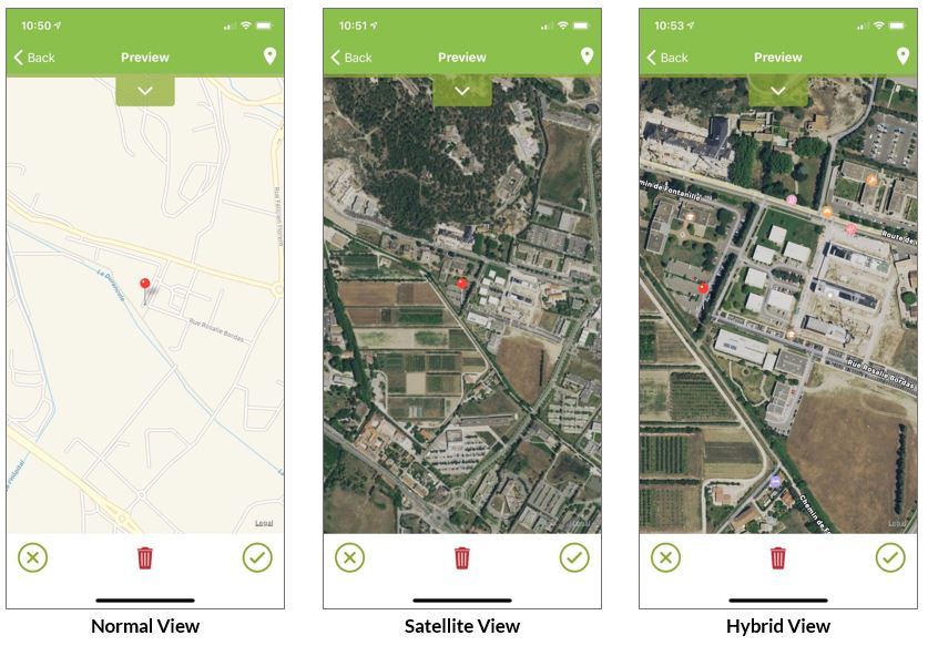 map view type on your mobile