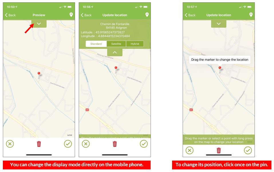 Editable preview mode and position to get accurate coordinates.