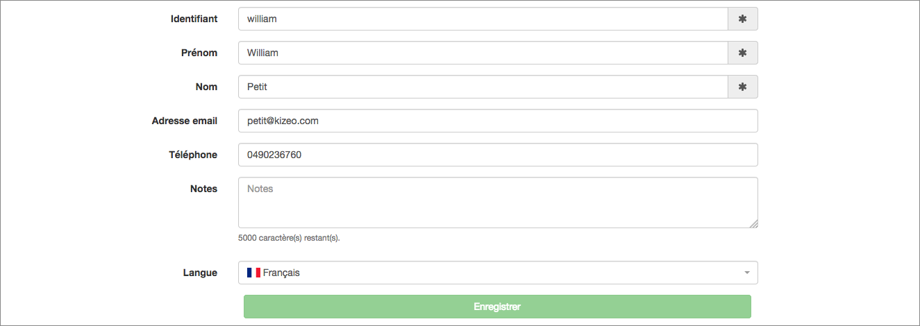 configurez son profil