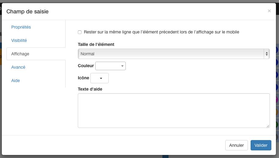 Rendez-vous dans les options de votre formulaire, onglet Affichage.