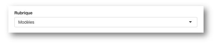 Vous pouvez créer des rubriques pour classer vos formulaires Kizeo Forms.