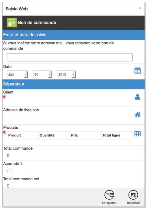 Enregistrez votre donnée ou transférez-la !