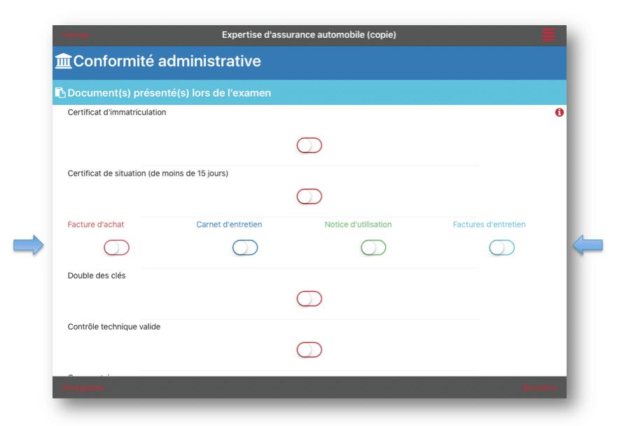 Exemple de formulaire où 4 champs de saisie ont été configurés avec la plus petite taille.