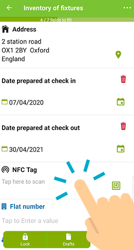 Place your device close to the NFC Tag
