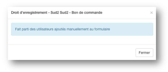 L'utilisateur a été ajouté manuellement dans l'onglet Utilisateurs.