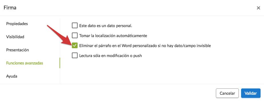 Configurar su reporte personalizado