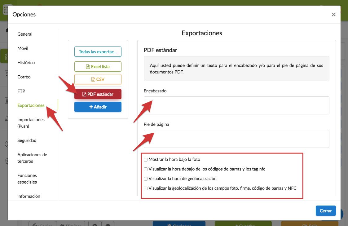 Configurar un documento PDF estándar