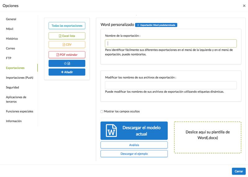 Importar su reporte personalizado