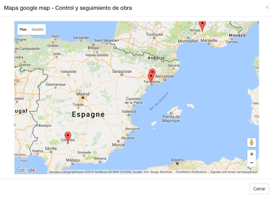 Puede visualizar el mapa de donde hayan sido completados los datos.