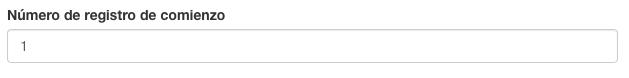 Configure el numero de registro de comienzo de sus formularios con Kizeo Forms.