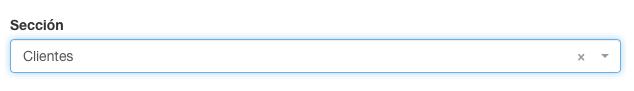 Puede crear secciones para organizar sus formularios Kizeo Forms.