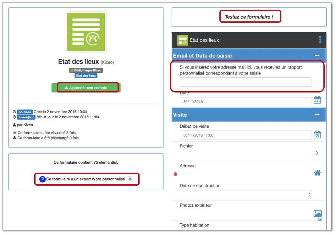 testez ou telechargez le formulaire kizeo forms
