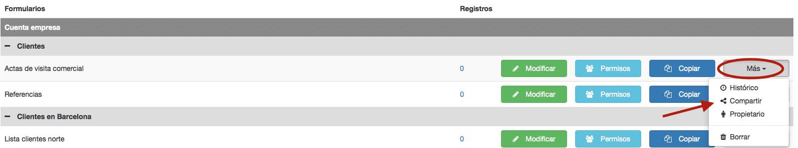 Comparta los formularios de Kizeo Forms con sus usuarios.