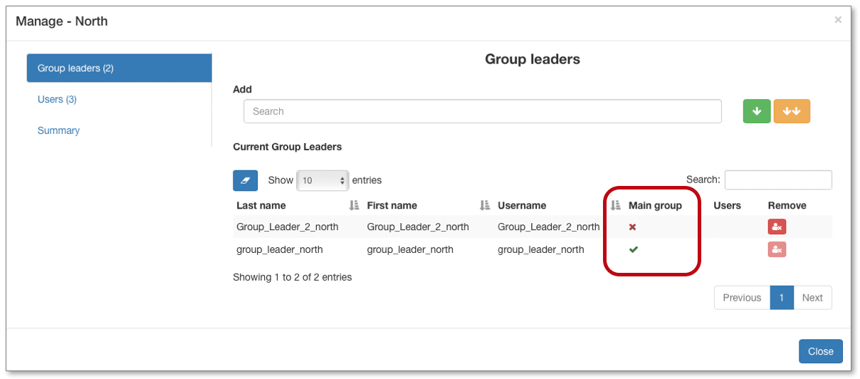 add a group leader