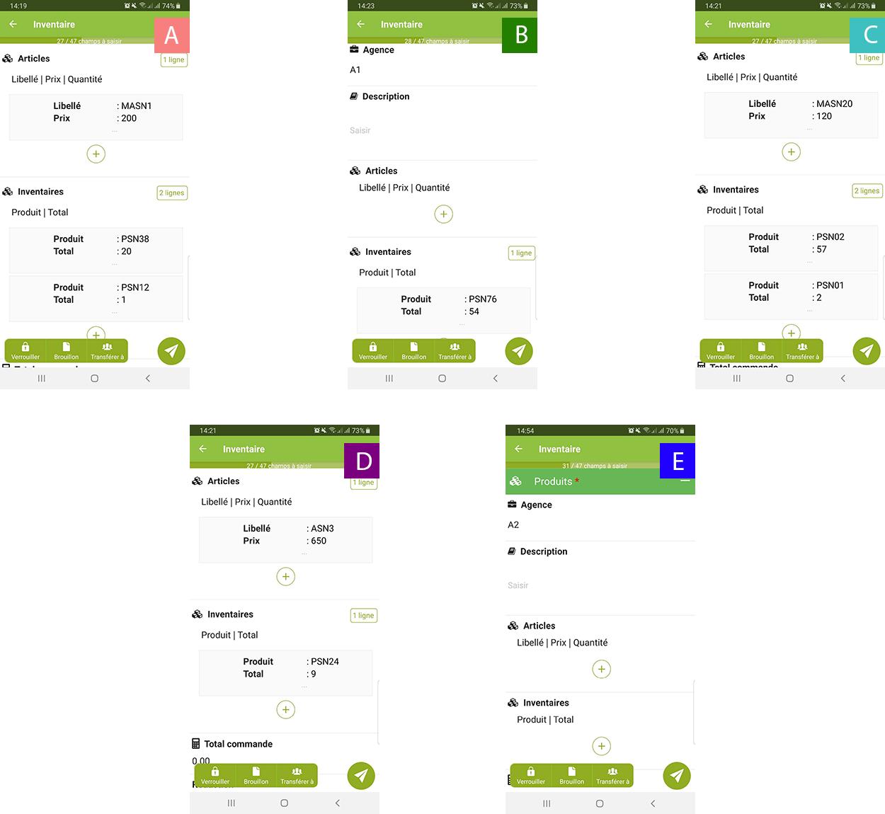 Exemple de push tableau a plusieurs utilsateurs avec donnees filtrees
